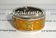 FENG SHUI - SIZE 7 YELLOW DZAMBHALA MANTRA RING