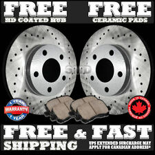 P1067 FIT 99 00 01 2002 2003 2004 Honda Odyssey Drilled Rotor Ceramic Pads FRONT