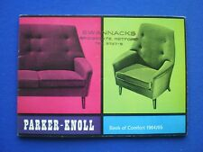 Parker-Knoll Chairs and Settees - Book of Comfort Brochure 1964/65