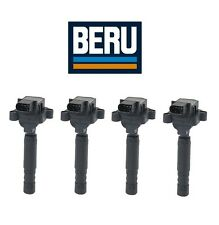 4-pcs OEM Beru Ignition Coil With Spark Plug Connector Mercedes C230 2003-2005
