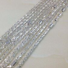 Wholesale 30Pcs Lot Jewelry Silver Plated Snake Chain Necklace For Women Ladies