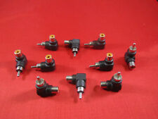 10Pcs RCA Male to Female Right Angle Adapter 90 Degree, Black.
