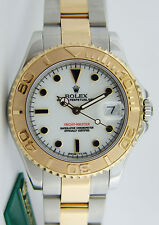 Rolex Yachtmaster White Dial Gold & Steel 68623 Midsize 35mm - WATCH CHEST