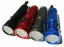 4 PACK OF SMALL POWERFUL 12 LED TORCH / TORCHES - REQUIRES 3 AAA BATTERIES EACH