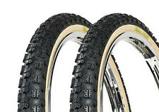 BMX OLD SCHOOL COMP3 TYRES TIOGA SKIN WALL SOLD IN PAIRS FAT AND SKINNY RE ISSUE