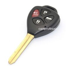 New Uncut Remote Key Fob 4 Button 315Mhz 4D67 Chip for Toyota Corolla 2009-2010