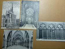 Lot050p c1906 PARIS - 4x La Sainte-Chapelle CRYPT Oratory Postcards FRANCE