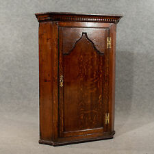 Antique Oak Corner Cabinet Wall Cupboard Quality English Georgian c1780