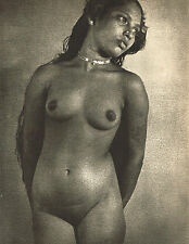 Vintage Lionel Wendt Asian Female Nude Brometching B Photogravure Photo Print