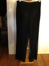 SANDRA DARREN Fully Lined Sequined Bottom Pants 1X Inseam 31""