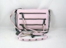 Rebecca Minkoff Mini 5-Zip Clutch in Pale Pink Brushed Gunmetal Hardware NWT