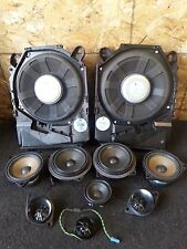 BMW E90 E91 325I OEM SET AUDIO SPEAKER TWEETERS SPEAKERS SUBWOOFER SUBWOOFERS