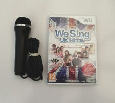 WE SING UK HITS AND 1 KARAOKE MICROPHONE WII PAL