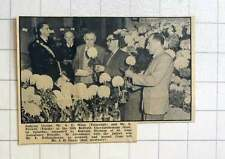 1957 Judging Blooms Mr A Winn And Mr E Prewitt Redruth Chrysanthemum Show