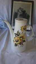 Wood and sons alpine meadow coffee pot fleur couleur sur blanc or avec jantes