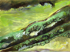 *GREEN LANDSCAPE ABSTRACT* LIMITED EDITION CANVAS ART PRINT OF ORIGINAL PAINTING