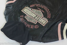 Harley Davidson Womens Pink Fall Miss Enthusiast Leather Jacket 3n1 97038-11VW M