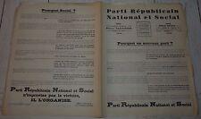 POLITIQUE PARTI REPUBLICAIN NATIONAL ET SOCIAL PIERRE TAITTINGER 1936