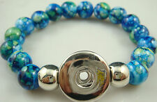 Diy handmade Jade beads Bracelet fit chunk snap button FREE Hot sell d78e