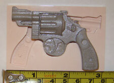 large silicone revolver gun mould cowboy icing cake cupcake decorating fimo clay