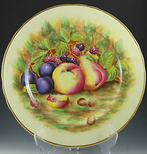 "Aynsley Bone China ORCHARD Fruit 10 5/8"" Dinner Plate"
