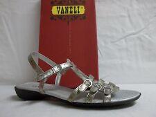 Van Eli VanEli Sz 8 M Tanto Platino Leather Ankle Strap Sandals New Womens Shoes