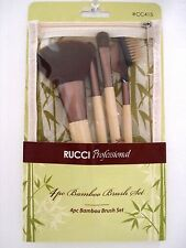 Rucci Professional 4pc Bamboo Makeup Brush Gift Set NIP