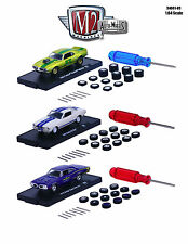 AUTO WHEELS 3 CARS SET RELEASE 3 WITH TIRES AND TOOL 1/64 M2 MACHINES 34001-03