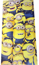 DESPICABLE ME MINIONS TOWEL FOR BOYS GIRLS KIDS BATH BEACH SWIMMING 100% COTTON