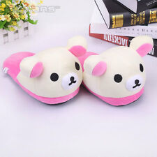 rilakkuma white bear indoor slippers fuzzy shoes new 1 pair
