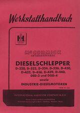 Werkstatthandbuch IHC D-320 D-324 Mc Cormick D-Serie inkl. 4 Sonderkapitel