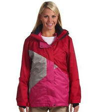 SESSIONS CLIMATE 2-IN-1 CRANBERRY WOMAN'S M SNOWBOARD JACKET NEW SHIPPED FREE!