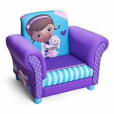 NEW DELTA CHILDREN DISNEY DOC MCSTUFFINS UPHOLSTERED CHAIR KIDS PADDED ARMCHAIR