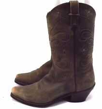 Ariat Women's Cowboy Western Boots, Sz 10 B EU 41.5, Brown Leather, Style 13629