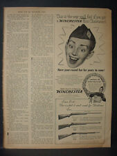 1954 Winchester Toy Gun for Christmas Vintage Print Ad 12144