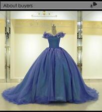 Luxury Cinderella Girls' Evening Dress Princess Celebrity Prom Party Ball Gown