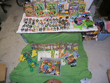 vintage TMNT teenage mutant ninja turtes HUGE collection Big tub of weapons too!