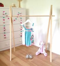 Children's Timber Clothes Rack, Wooden Clothes Rail, Shop Display, Market Stall