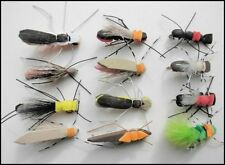 12 Foam Bug Fishing Flies, Size 8, For Fly Fishing, Foam flies, Trout Love Them
