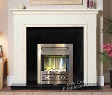 ELECTRIC WHITE BLACK SILVER HANG WALL HUNG MOUNTED SURROUND FIRE FIREPLACE SUITE