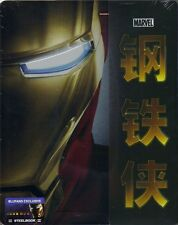 Iron Man 2-Disc Blu-ray Blufans Exclusive 1/3 Slip Steelbook No.20 New & Sealed+
