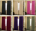 2 Panels Grommet Solid Micro suede Curtain Window Covering Panel New
