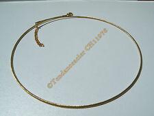 Chaine Collier Ras de Cou 45 a 49 cm Maille Serpentine Doré Acier Inox 1.5mm Or