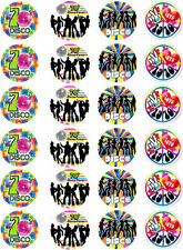 70's / 1970 Cupcake / Fairy Cake Toppers x 24