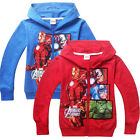 Kids Girls Boys Autumn Hoodies Zipper Coat Zip Hooded Clothes Age 4 5 6 7 8 9 10