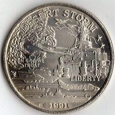 1991 DESERT STORM COLLECTION COIN 10 OF 45 $5 BATTLESHIP USS MISSOURI