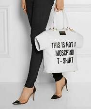 MOSCHINO COUTURE Jeremy Scott This is NOT a Moschino T-Shirt Leather Handbag XL