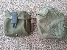 Vietnam M-67 magazine pouch and canteen cover  early nylon gear, 1968 & 72 dated