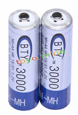 2x AA 3000mAh 1,2 V batterie Ni-MH rechargeable BTY cellule pour MP3 Jouets RC