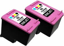 2 PK FOR HP60 HP 60 CC643WN Color Deskjet F4473 D2680 D5560 F2400 F2420 F2423